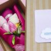 flores caja rosado