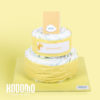 torta 2 pisos amarillo
