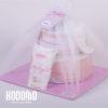 torta 2 pisos y ajuar rosado con tul