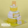 torta 3 pisos y ajuar amarillo