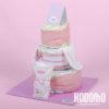 torta 3 pisos y ajuar rosado