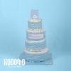 torta 4 pisos celeste
