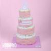 torta 4 pisos rosado
