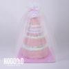 torta 4 pisos rosado con tul