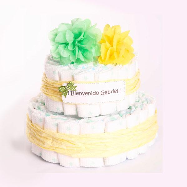 "Torta pañales ""personalizada"" (2 pisos)"