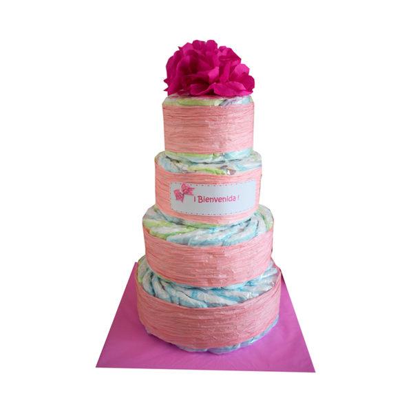 Torta de pañales 4 pisos